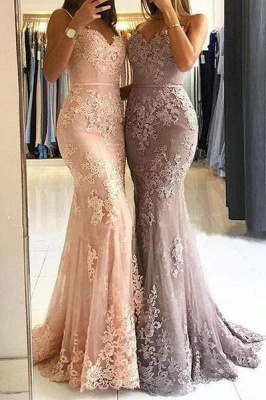 Chicloth Red Lace Appliques Prom Dress | 2019 Mermaid Formal Dress_1