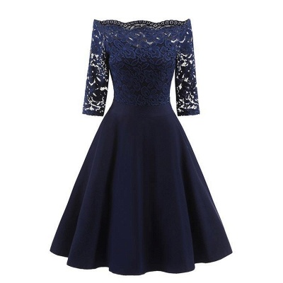 A| Chicloth Women's Lace Cocktail Evening Party Dress_3