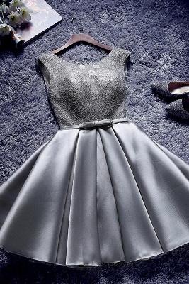 A| Chicloth Short Burgundy Homecoming Dress Bridesmaid Dress_3