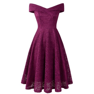 A| Chicloth Cute Lace Dress Wedding Party Formal Dress_20