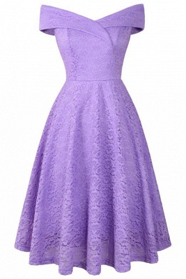 A| Chicloth Cute Lace Dress Wedding Party Formal Dress_22