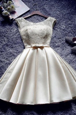 A| Chicloth Short Burgundy Homecoming Dress Bridesmaid Dress_2