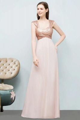 Chicloth A-line Chiffon Sequins Straps Sweetheart Sleeveless Floor-Length Bridesmaid Dresses_3