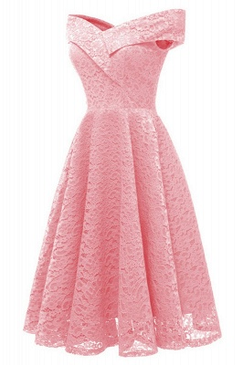 A| Chicloth Cute Lace Dress Wedding Party Formal Dress_9
