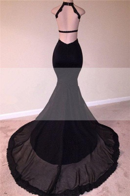 Chicloth Sexy Black Open Back Lace Prom Dresses | 2019 Sleeveless See Through Tulle Cheap Evening Gown_2