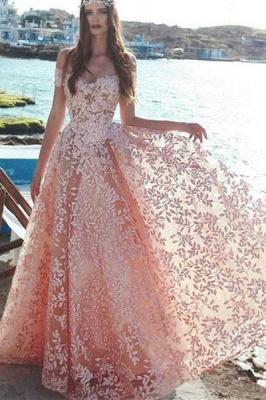 Elegant Off-the-Shoulder 2019 Evening Dress | Lace Appliques Prom Party Dress On Sale_1