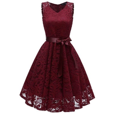 A| Chicloth Women's 1940s Vintage Rockabilly Ball Gown Flared Dress_3