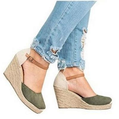 B| Chicloth Womens Wedge Sandals Ankle Boots_4