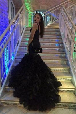 Chicloth Sexy Black Deep-V-Neck Mermaid Sleeveless Prom Dress_2
