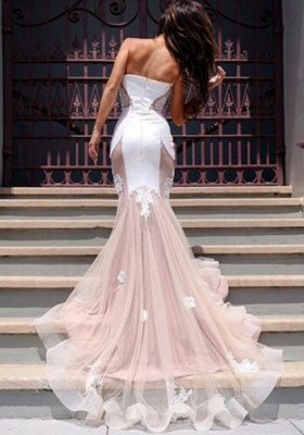 Chicloth Sexy Mermaid Sweetheart Tulle Long Evening Dress Lace Custom Made 2019 Evening Party Dresses_4