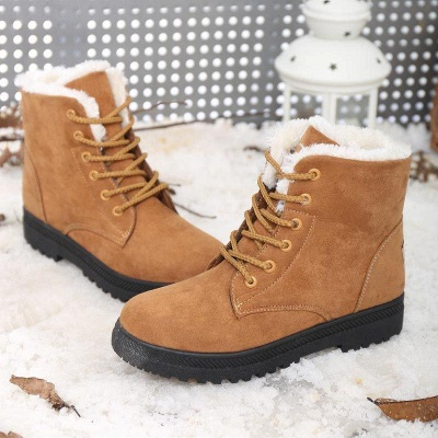 Daily Lace-up Round Toe Boots_3
