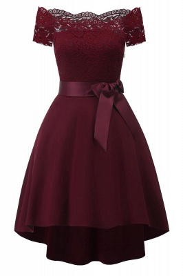 A| Chicloth Cocktail Dresses Simple A-Line lace Elegant Summer Lace Dress_1