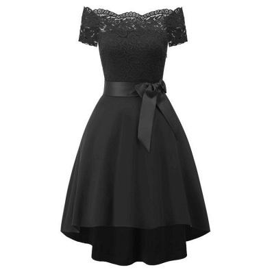 A| Chicloth Cocktail Dresses Simple A-Line lace Elegant Summer Lace Dress_2