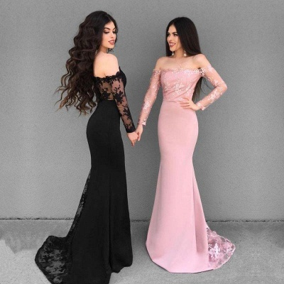 Elegant Off-the-Shoulder 2019 Evening Dress | Mermaid Lace Formal Dress_3