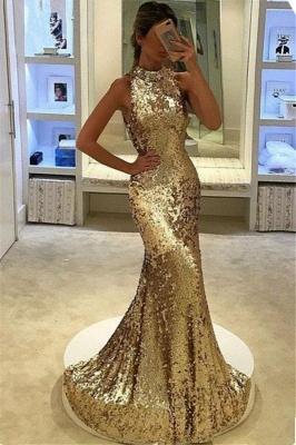 Chicloth Elegant Sequins Sleeveless Mermaid Long Prom Dress_2