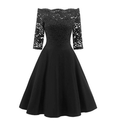 A| Chicloth Women's Lace Cocktail Evening Party Dress_2