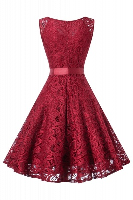 A| Chicoth Vintage Floral Lace Pleated Dress Women Sleeveless V-Neck Elegant Party Sexy Dresses_3