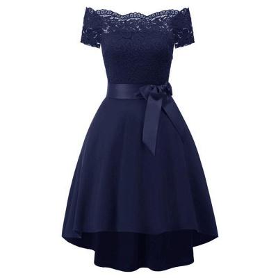 A| Chicloth Cocktail Dresses Simple A-Line lace Elegant Summer Lace Dress_3