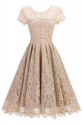 Lace Black Button Chic Elegant Vintage Dresses_5