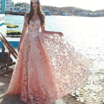 Elegant Off-the-Shoulder 2019 Evening Dress | Lace Appliques Prom Party Dress On Sale_2