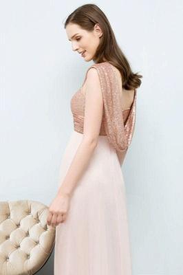 Chicloth A-line Chiffon Sequins Straps Sweetheart Sleeveless Floor-Length Bridesmaid Dresses_6