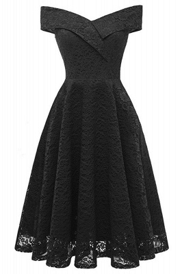 A| Chicloth Cute Lace Dress Wedding Party Formal Dress_14