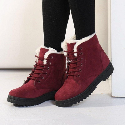 Daily Lace-up Round Toe Boots_2