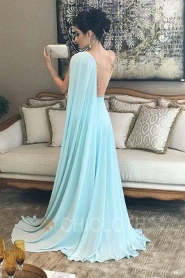 Chicloth One Shoulder Chiffon Long Bridesmaid Dresses_2