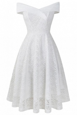 A| Chicloth Cute Lace Dress Wedding Party Formal Dress_21