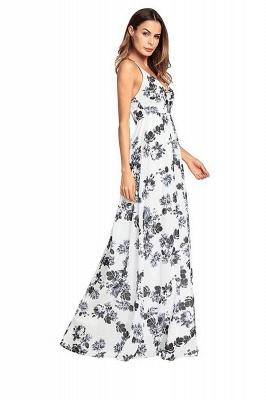 B| Chicloth Bohemia Floral V Neck Backless Maxi Dress_7