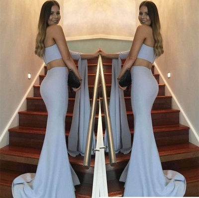 Chicloth Stunning Two-Pieces One-Shoulder Mermaid Floor-Length Prom Dress_4