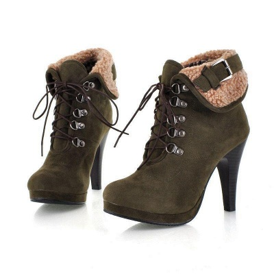 B| Chicloth Women High Heel Half Short Ankle Boots_4