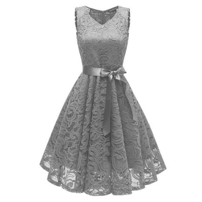 A  Chicloth Women's 1940s Vintage Rockabilly Ball Gown Flared Dress_2