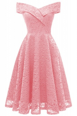 A| Chicloth Cute Lace Dress Wedding Party Formal Dress_2