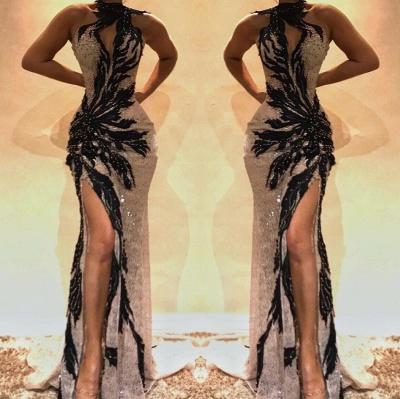 Sexy Lace Beading Mermaid Split Prom Dresses BC0493_2