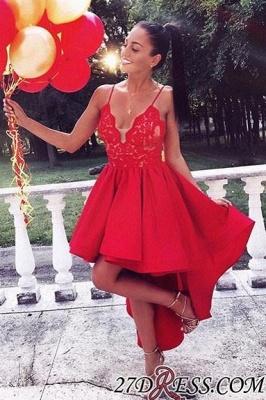 Red Homecoming Dresses Hi Lo Hoco Dress_2
