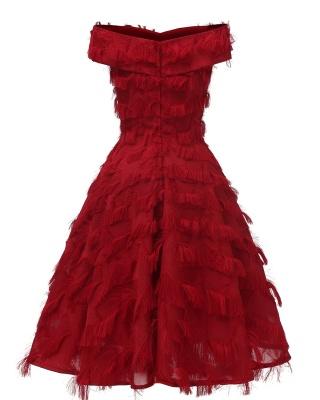 Burgundy Cute Short Women's Dresses Homecoming Dresses_8