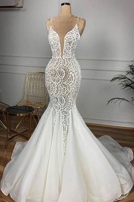 Chicloh Gorgeous Beaded Lace Organza Mermaid Wedding Dress_1