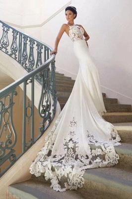 Chicloth Precious Spaghetti Strap Lace Mermaid Wedding Dress_2