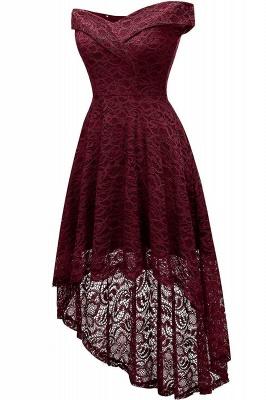 Vintage Floral Lace Off Shoulder Hi-Lo Formal Swing Dress_9