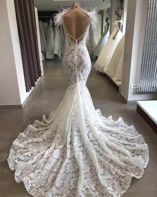Chicloth Glorious Beading Appliques Mermaid Wedding Dress_3