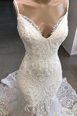 Chicloh Amazing Appliques Tulle Mermaid Wedding Dress_4