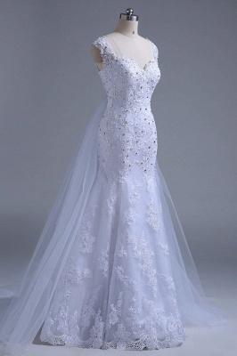 Chicloth Beading Tulle Mermaid Floor Length Wedding Dress_6