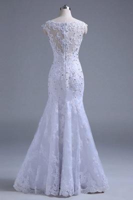 Chicloth Beading Tulle Mermaid Floor Length Wedding Dress_3