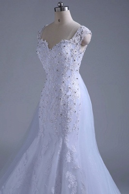 Chicloth Beading Tulle Mermaid Floor Length Wedding Dress_8