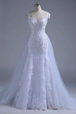Chicloth Beading Tulle Mermaid Floor Length Wedding Dress_4