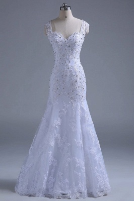 Chicloth Beading Tulle Mermaid Floor Length Wedding Dress_1