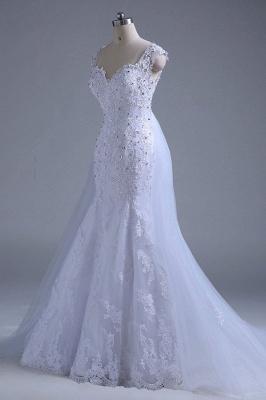 Chicloth Beading Tulle Mermaid Floor Length Wedding Dress_5