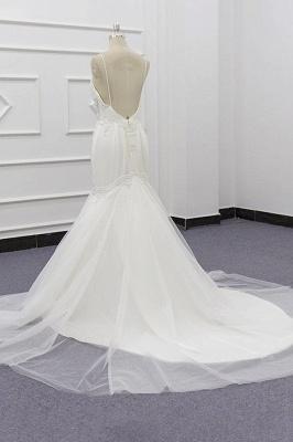 Chicloth Chic Spaghetti Strap Beading Mermaid Wedding Dress_5