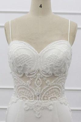Chicloth Chic Spaghetti Strap Beading Mermaid Wedding Dress_6
